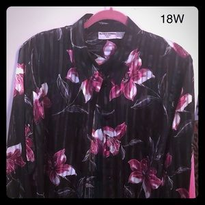 Two piece blouse with flowers